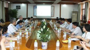 Visiting with the Jiangsu Police Academy Forensic Staff